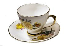 Free Tea Cup And Saucer Royalty Free Stock Photos - 17854888