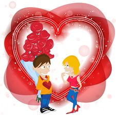 Free Happy Valentine S Day Card. Royalty Free Stock Photo - 17855215