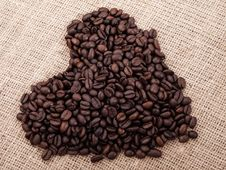 Free Coffee In The Shape Of Heart Royalty Free Stock Photo - 17855655
