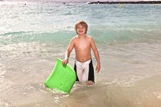 Free Boy Has Fun At The Beach Stock Photography - 17855982