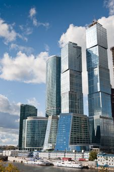 Free Many Scyscrapers Of Moscow City Under Blue Sky Stock Images - 17856144
