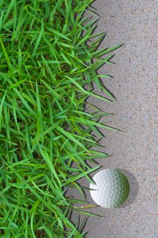 Free Golfball In The Bunker Stock Images - 17856204