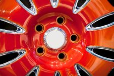 Free Red Metallic Tyre Disc Stock Photography - 17856252
