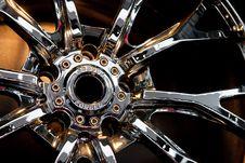 Free Metallic Tyre Disc Royalty Free Stock Photo - 17856285