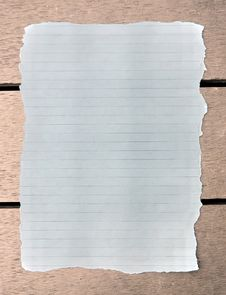 Free Blank Note Paper Royalty Free Stock Photography - 17856397