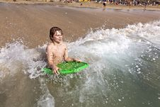 Free Boy Has Fun At The Beach Stock Images - 17856914