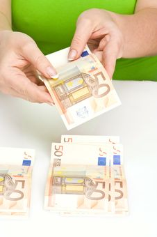 Free Count The Money Royalty Free Stock Photo - 17856915