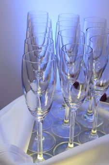 Free Empty Champagne Glasses Royalty Free Stock Image - 17857026