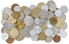 Free Old Coins Of Different Countries Royalty Free Stock Image - 17857136