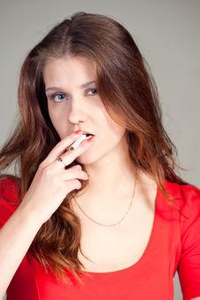 Free Beauty With Cigarette Royalty Free Stock Images - 17858069