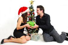 Free Couple Celebrating Christmas Stock Image - 17858111