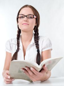 Free Girl Reading A Book Stock Image - 17858391