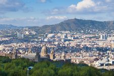 Montjuic National Palace Stock Images