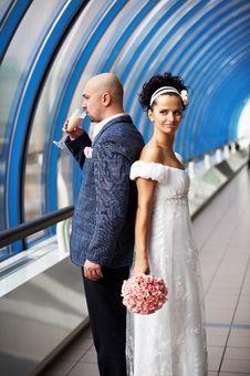 Free Bride And Groom  On Wedding Walk Stock Photos - 17858833