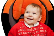 Free Baby Smile In Car Stock Photos - 17859383
