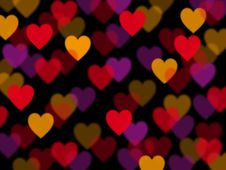 Free Abstract Heart Lights Royalty Free Stock Photo - 17859415