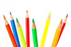 Extreme Colors Pencils Royalty Free Stock Images