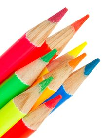 Extreme Colors Pencils Stock Photo