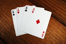 Free Four Aces Stock Photography - 17859832