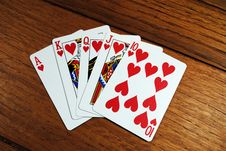 Free Straight Flush Stock Photo - 17859900