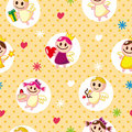 Free Seamless Angel Pattern Royalty Free Stock Photos - 17864908