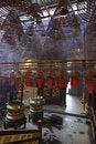 Free Incense Spirals At Man Mo Temple, Hong Kong Royalty Free Stock Images - 17865439