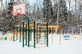 Free Playground  Under Snow Stock Images - 17869444