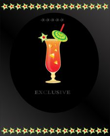 Free Fruit Cocktail On The Black Background Royalty Free Stock Photo - 17860285