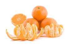 Free Tangerines On White Stock Photo - 17860410