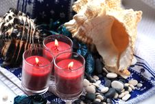 Free Candles And Shells Stock Images - 17861044