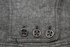 Linen And Buttons Royalty Free Stock Photo