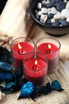 Free Three Red Candles Stock Photos - 17861733