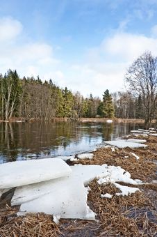 Free Ice On River Bank Stock Image - 17861871
