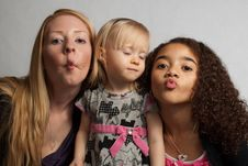 Free Three Girls Making Faces Royalty Free Stock Photos - 17862468