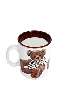 Free Baby Cup With Teddy Bear Stock Image - 17862891