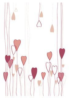 Free Romantic Hearts  Background Royalty Free Stock Photography - 17862897