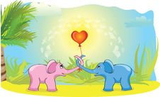 Free Blue And Pink Elephant Royalty Free Stock Image - 17863126