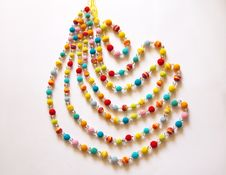 Free Colorful Crocheted Necklace Royalty Free Stock Photo - 17863515
