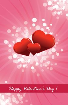 Free Happy Valentine S Day Postcard Royalty Free Stock Photo - 17863625