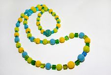 Crocheted Colorful Necklace Royalty Free Stock Photos