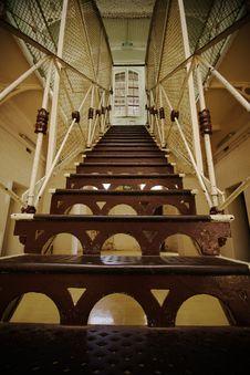 Creepy Prison Stairway Stock Image