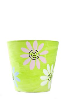Free Painted Colorful Clay Flower Pot Stock Photos - 17865233