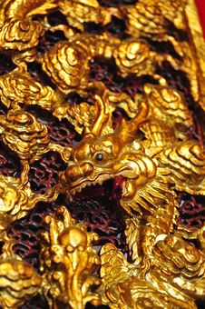 Free Dragon Carving At Man Mo Temple, Hong Kong Royalty Free Stock Images - 17865419
