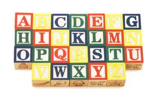 Cubes With Letters Isolated Royalty Free Stock Image