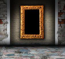 Grunge Interior With Columns Stock Photo