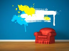 Free Alone Chair With Splash Frame Stock Images - 17866004