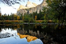 Mountain Reflection In The Water Royalty Free Stock Image