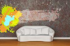 Free White Sofa With Splash Frame Stock Image - 17866201