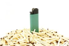 Free Lighter And Matches Stock Image - 17866311