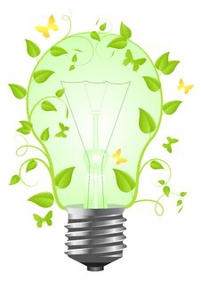Free Bulb With Plant Stock Photos - 17866453